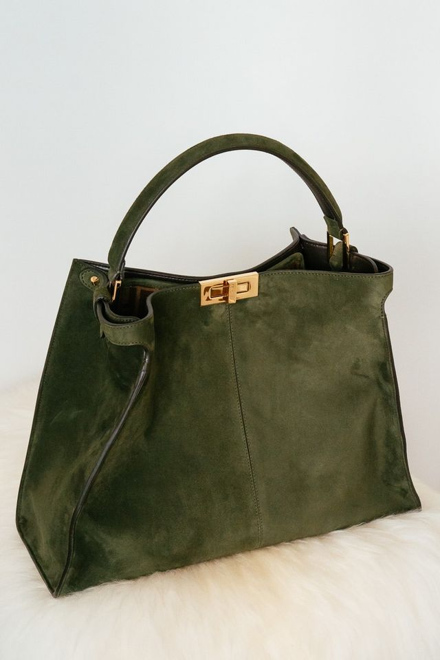 769cd17d294 ... to the Fendi Peekaboo, and today I've got a treat for you: a look at one  of my favorite picks from this new line, a stunning dark green suede beauty.