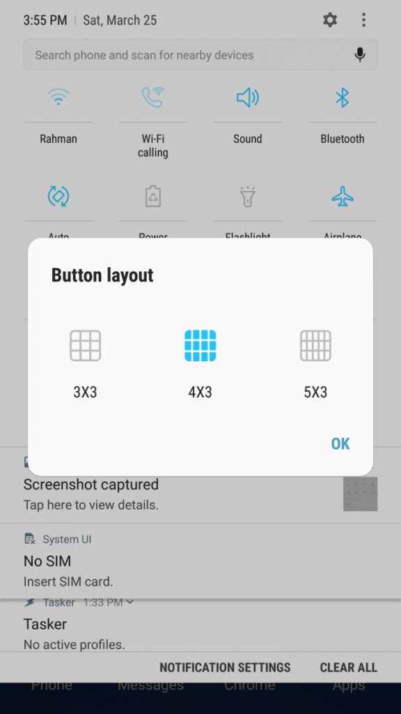 How to Customize the Size of the Quick Settings Button Layout on