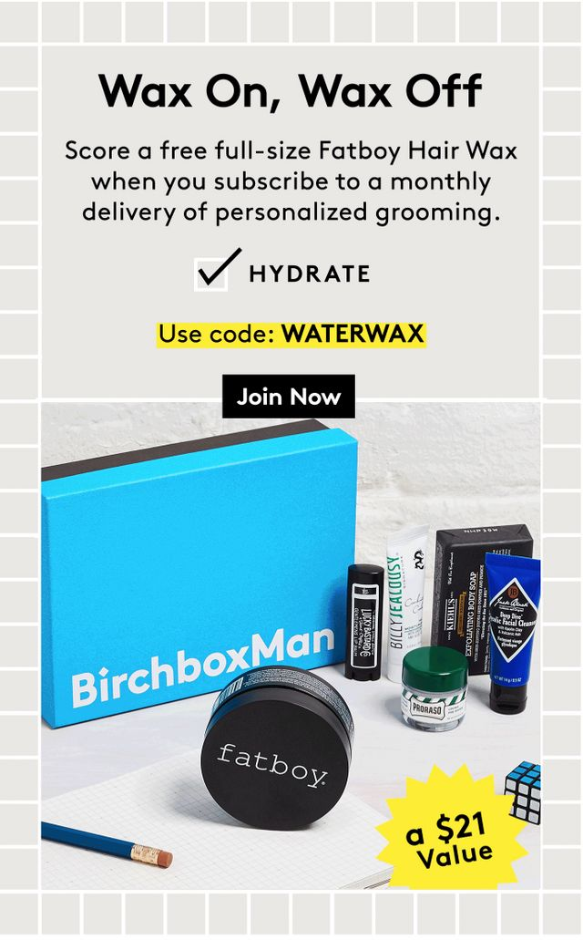 e3d99bfa4e6 Birchbox Man Coupon – Free Full-Size Fatboy Hair Wax with Subscription!