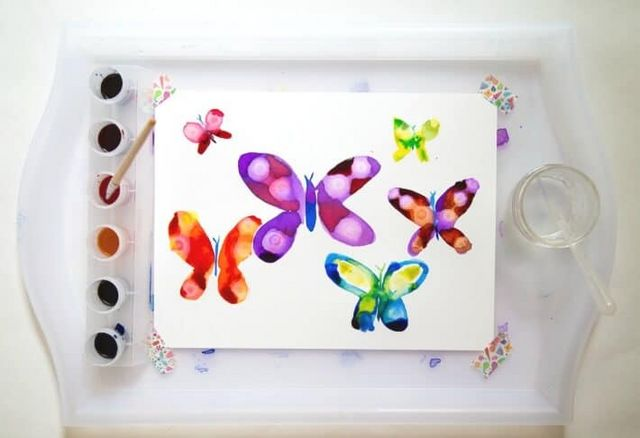 Watercolor Butterflies with the Rubbing Alcohol Technique | The