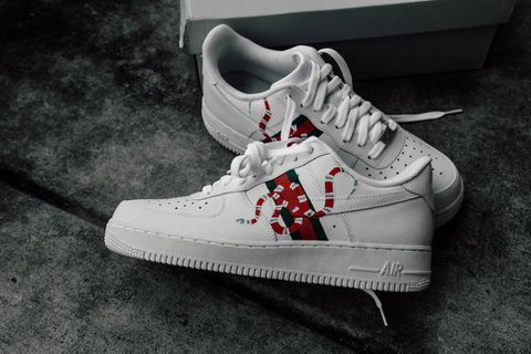online store 58512 64b85 LOW TOP AIR FORCE 1 X GUCCI