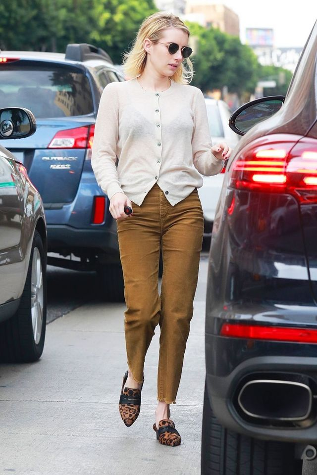 "c316708e3a6 Emma Roberts Can t Stop Wearing This ""Ugly"" Heel Trend"