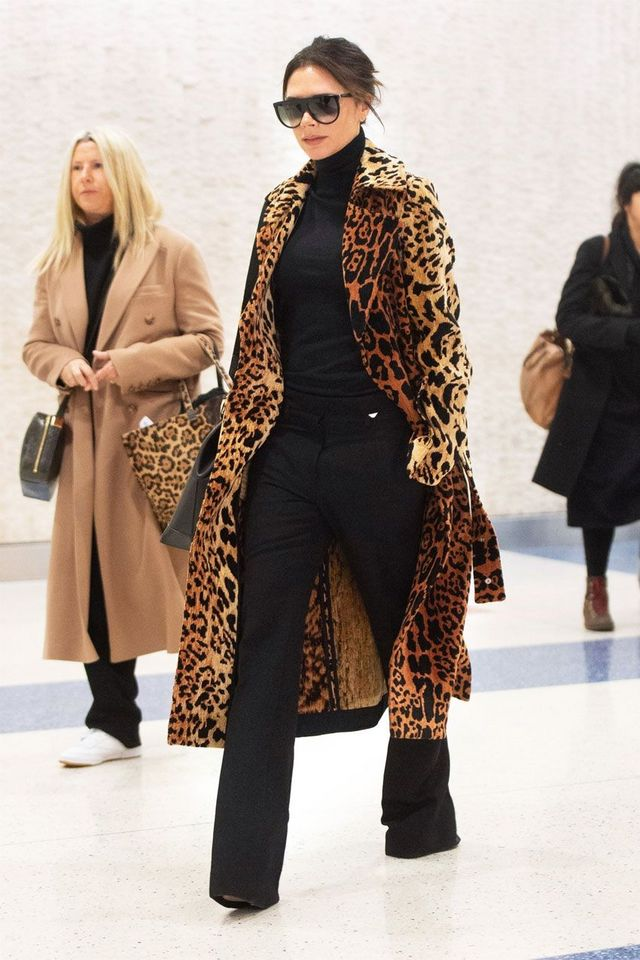 89106454873f The combination of a leopard coat and turtleneck pretty much make it such  that nothing else even matters