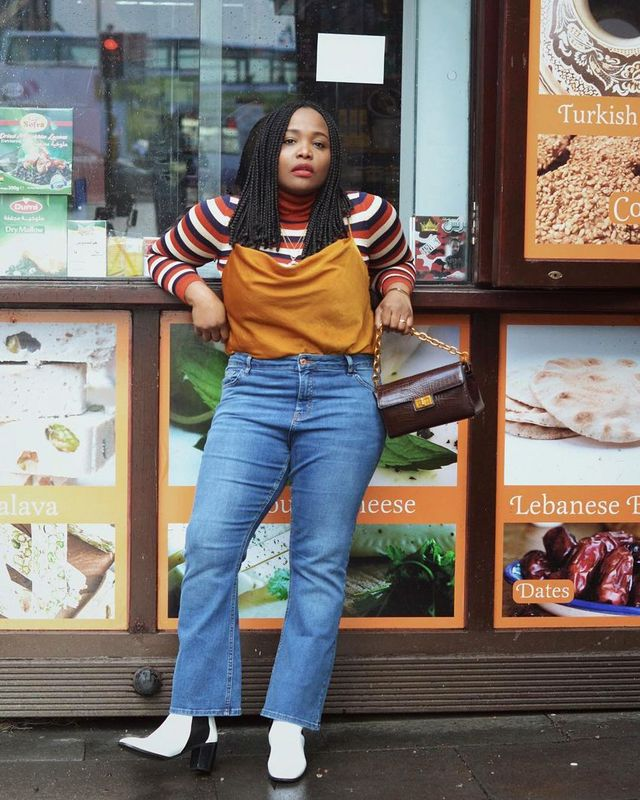 9f58b7b40c8d The key to nailing any look  Tuck in your top of choice and pair the jeans  with a heel of any height—the extra few inches will elevate the look in  more ways ...