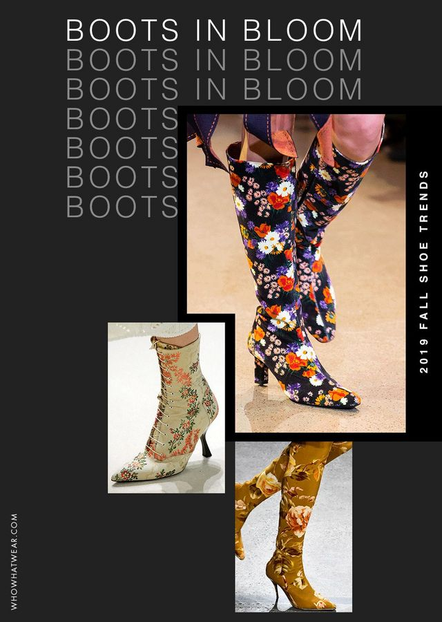 33f24e11fa55 We're partial to a moody floral dress in fall, but this season, designers  graced the pretty print on boots instead—from delicately embroidered prints  on ...