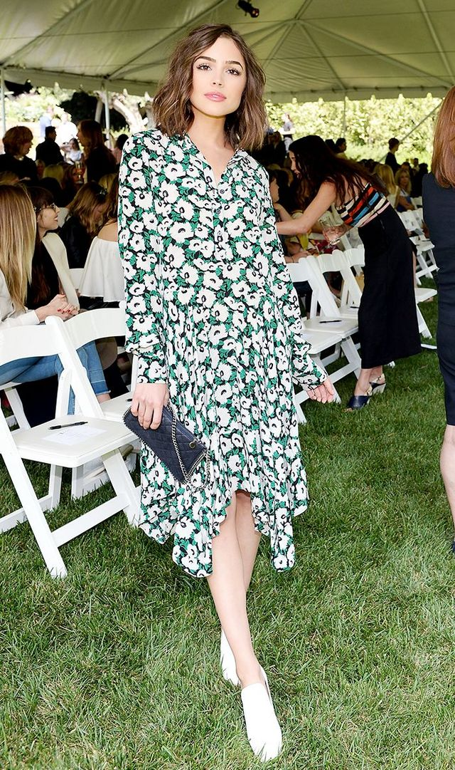 7cf6c454cb77b Style Notes  White shoes are the freshest shoe color to wear right now (and  they surprisingly go with everything). On Olivia Culpo  Stella McCartney  dress ...