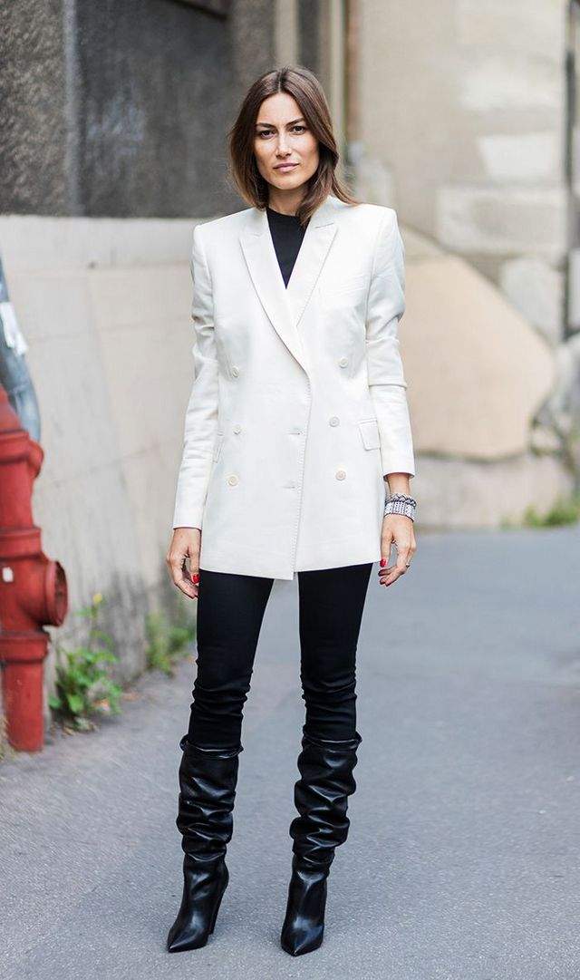 9eddd202e Go on to see how to wear a blazer with inspiration from street style stars,  and then shop their outfits. Wear an oversize blazer with a simple tee,  jeans ...