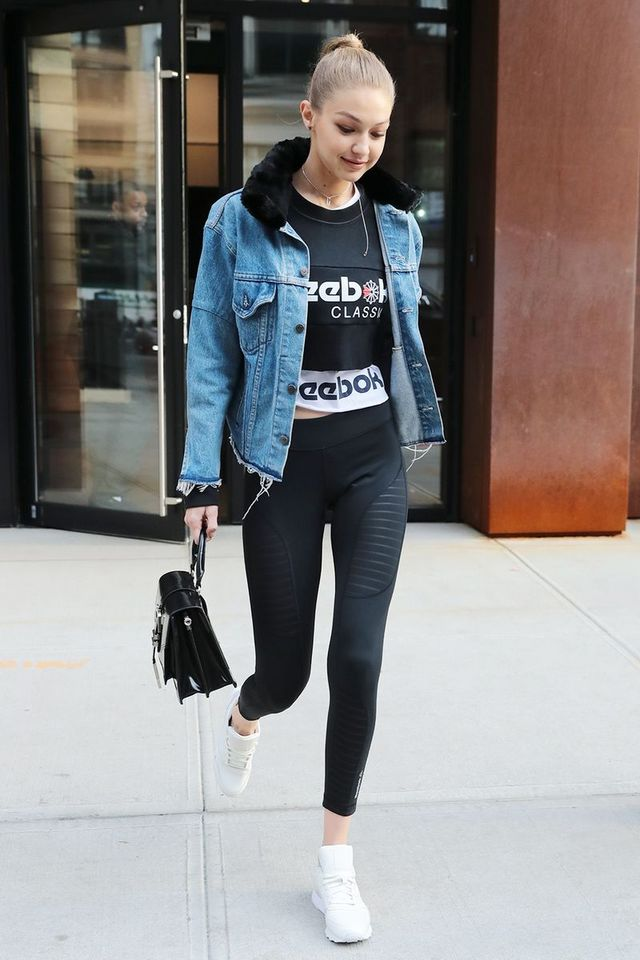 087202ab4 The Shirts Celebrities Love to Wear With Leggings