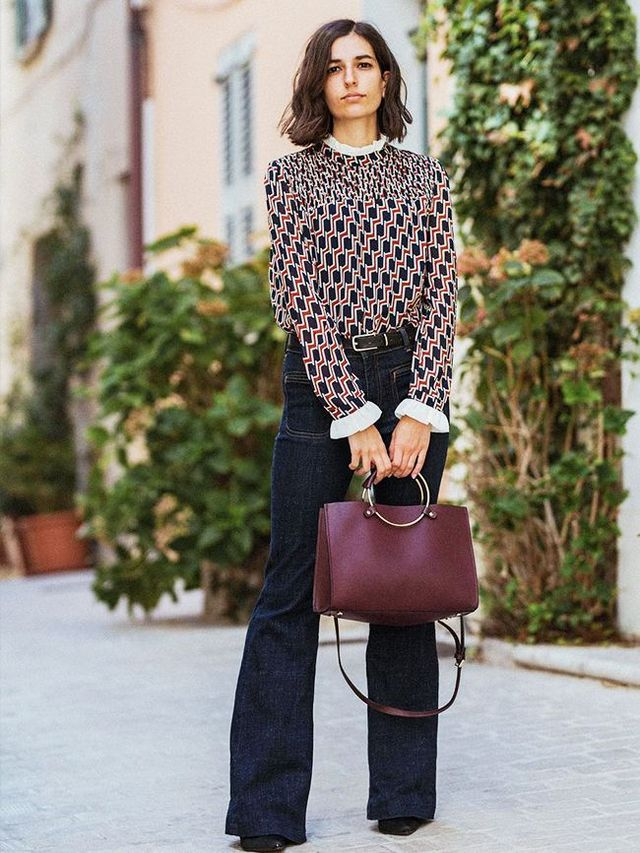 92712a5a935 Even the smallest details—like contrast top-stitching—can make simple,  tailored pieces look far more directional than you'd imagine. Maria Alia's  H&M shirt ...
