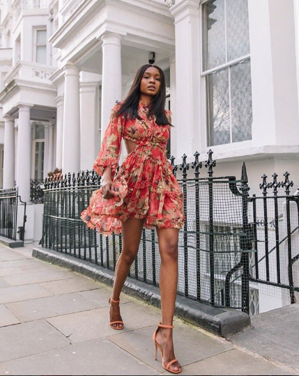 A flowy floral-print dress and bright-colored pumps make for a no-brainer  outfit that s perfect for every kind of birthday celebration. 63d78f8e952f