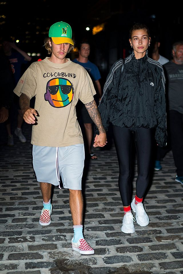 Hailey Baldwin Wears the $1500 Sneakers for Outing With