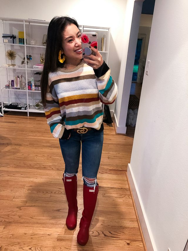 a591372481 Outfit Quickie   Rainy Day Stripes