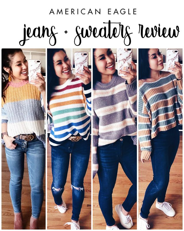3112a5682d American Eagle  Sweaters + Jeans Try-On Review