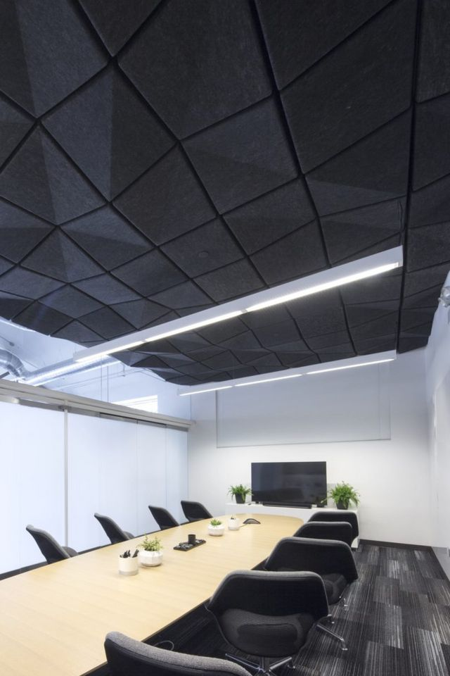 Crease A Range Of Modular Acoustic Ceiling Tiles By Turf Design And