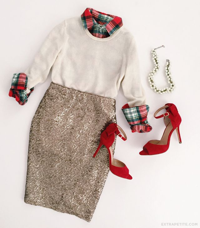 a87997013b0c Holiday tartan + sequined skirt    J.Crew Factory flash sale