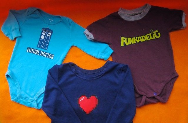 eedf1174a Fun with nerdy T-shirt transfers: Doctor Who, Funkadelic & Minecraft Tees  and Onesies