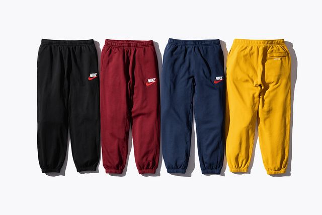 c576bd818a38 A pared-back addition to the collection, this tracksuit was available in  burgundy, black, navy and yellow. This one split the brand name locations,  ...
