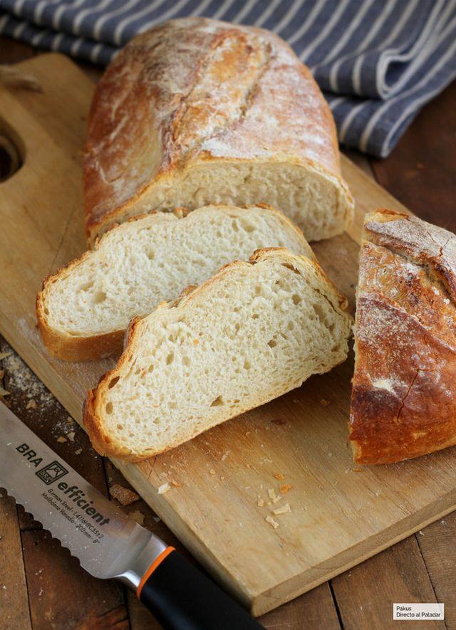 Pan rústico de trigo. Receta de pan casero fácil y rápido | Directo ...