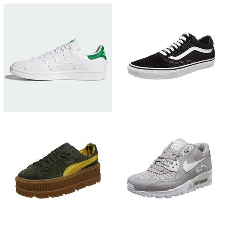Adidas Stan Smith en color blanco con detalles troquelados y logos en color  verde. De Adidas 275ee6a0c6a76