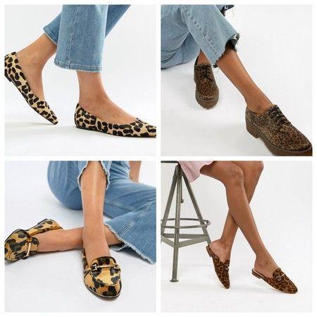 more photos b395f 1674d No hay nada más cómodo que unos zapatos planos. Para tus outfits apuesta  por unos zapatos planos con estampado animal. Pueden ser unas bailarinas en  punta, ...