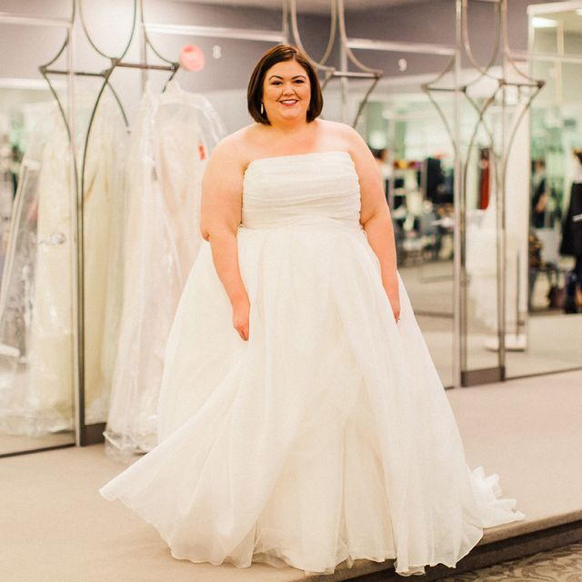 c2ddf432830 Plus Size Wedding Dress Shopping with David s Bridal