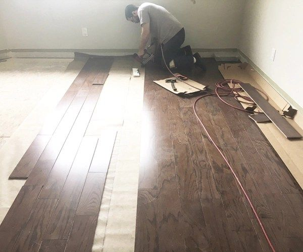 Two days later there was a huge change and im sooooooo pleased with the result ive been dreaming of hardwood floors in my bedroom for years people years