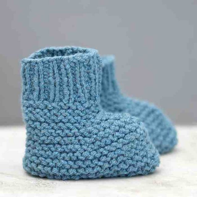 Easy Stay On Baby Booties Knitting Pattern Gina Michele Bloglovin