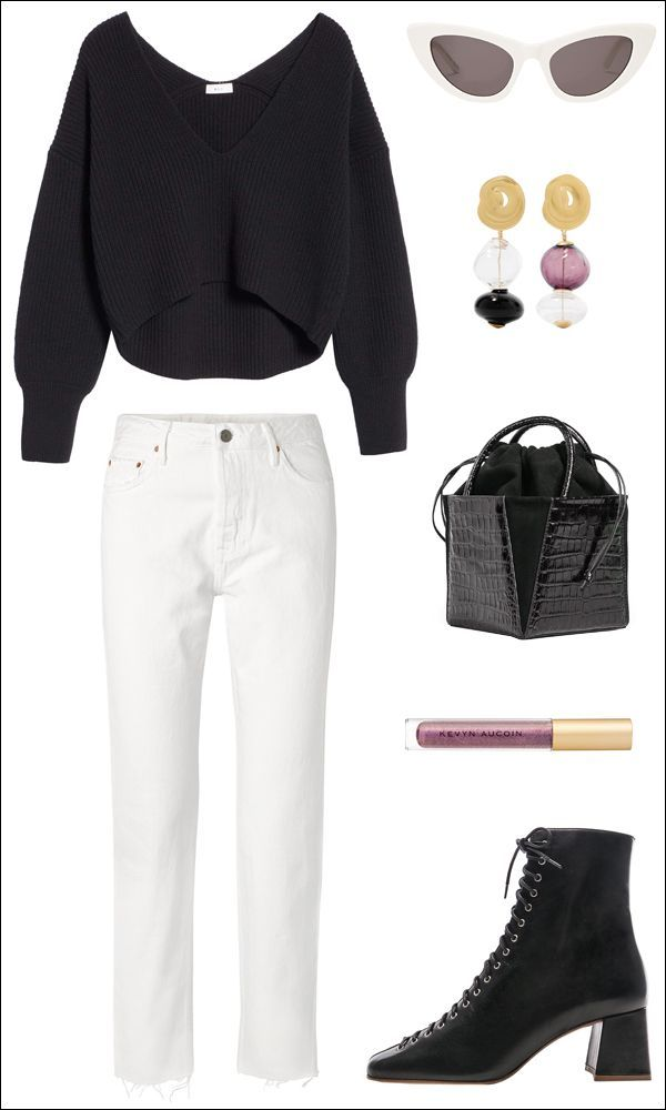 8d84d4fbee77 A Stylish Black and White Outfit Idea to Get You Through Winter