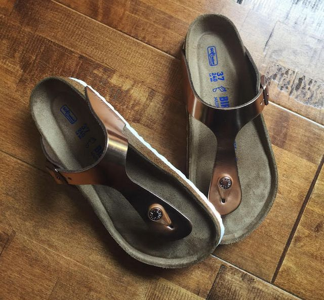f9d068d0ed93 Birkenstock Gizeh Soft Footbed in Copper. My love for the Gizeh style has  been well documented (by myself) over the years