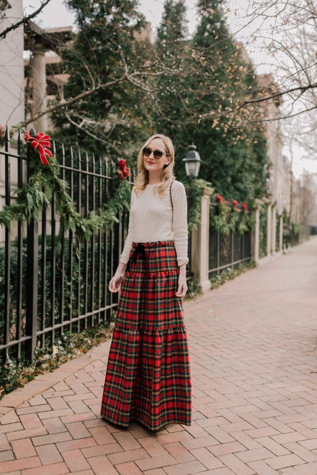 """d29751a45e Plaid Tiered Maxi Skirt (Also love this similar shorter skirt and  everything from the """"Jolly Plaid"""" collection, as well as this one!) / Vineyard  Vines ..."""