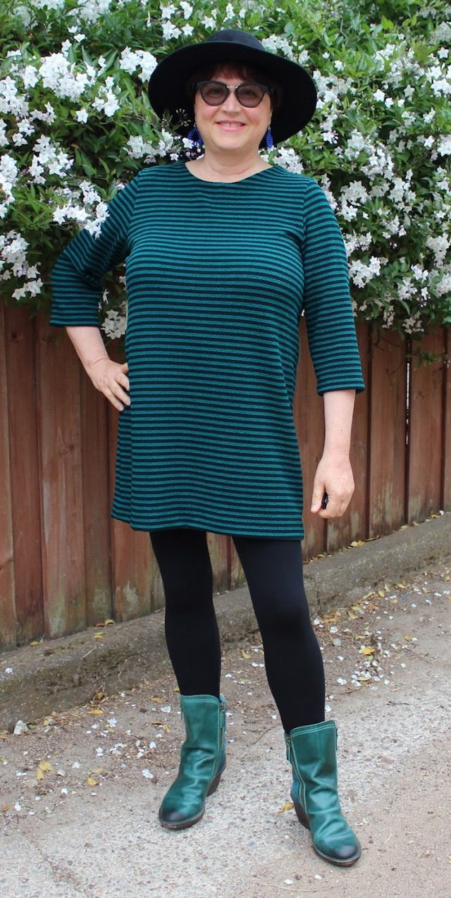 b696db15974 Teal Stripes in Wool (Dress) and Other Stuff