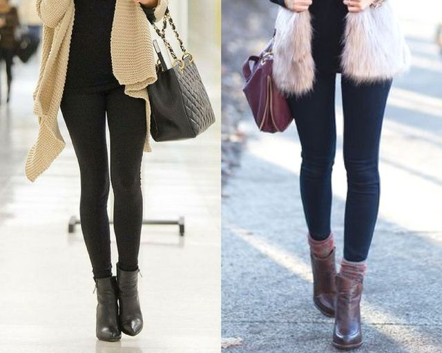 new styles 9a67c 7df8a If you want to create a long, lean leg line, the best way to do that is to  tuck your leggings or pants into the ankle boots. But choose well-fitted  pants or ...