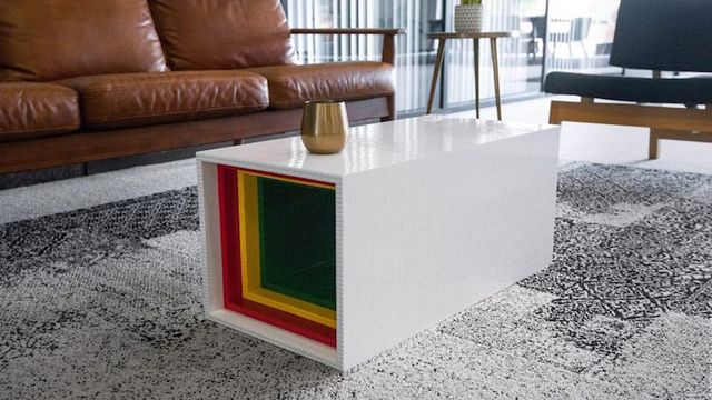 Designer Builds A Fully Functioning Coffee Table From More Than 10 000 Lego Bricks