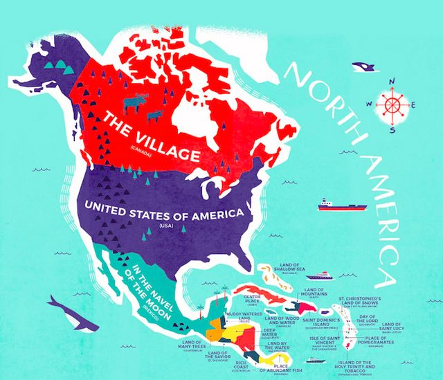 Literal world map reveals the historical meanings of country names by using a range of sources such as the world fact book and oxford dictionaries each countrys name was translated into its early native language gumiabroncs Choice Image