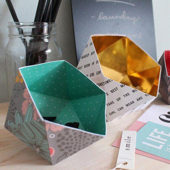 DIY Geometric Storage Dishes | Craft Gawker | Bloglovin'