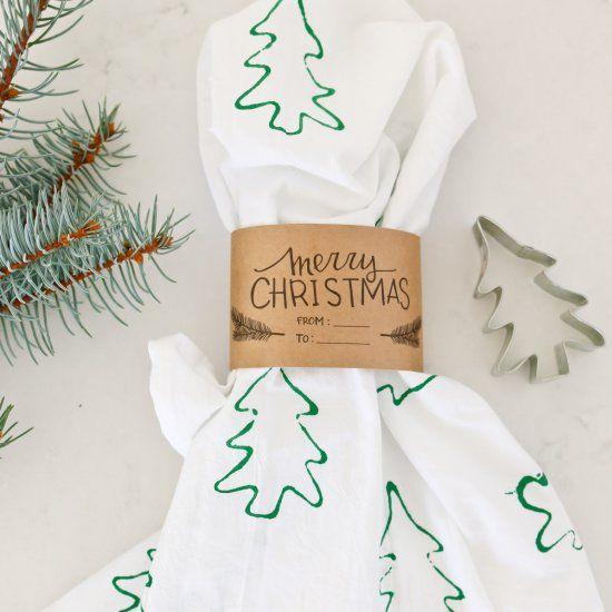 cookie cutter stamped tea towels   Craft Gawker   Bloglovin'