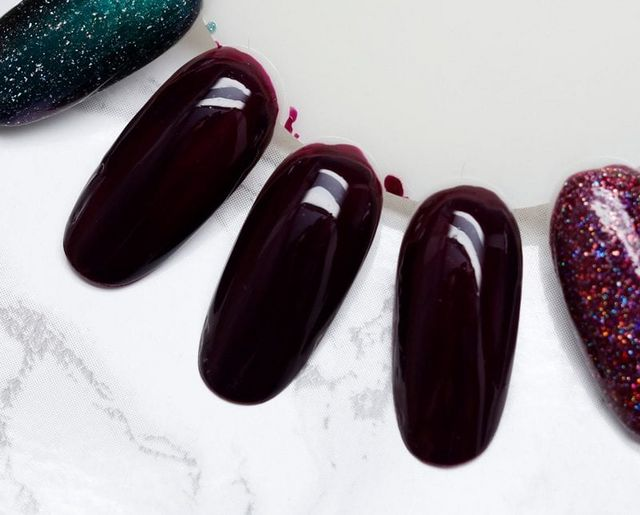 94d5ad62894e Let's Fang Out – Sam from Sam Nailed It A cream polish is almost a plum  color, with hints of maroon and aubergine.