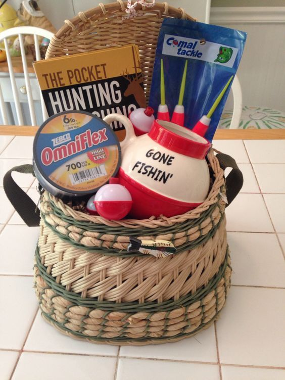 Awesome gift baskets to make for everyone on your christmas list fisherman gift basket idea negle Images