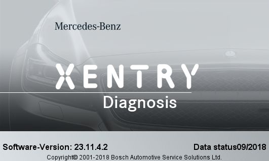 V2018 9 Mercedes Benz Xentry/Das Software 09/2018 Mercedes
