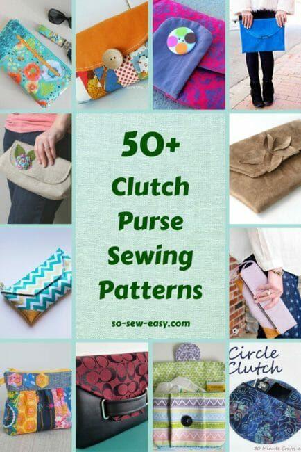 50+ FREE Clutch Purse Sewing Patterns | So Sew Easy | Bloglovin\'